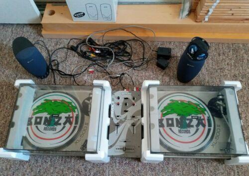 2 Gemini XL-500 II Direct Drive Turntables & Gemini PMX60 Stereo Preamp Mixer
