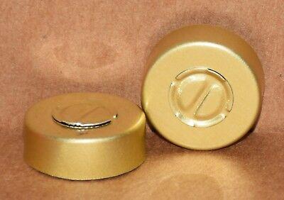 20mm Aluminum Center Tear Serum Vial Seals Gold - Qty. 100