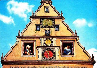 Rothenburg o.d. Tauber , Kunstuhr am Marktplatz , Ansichtskarte