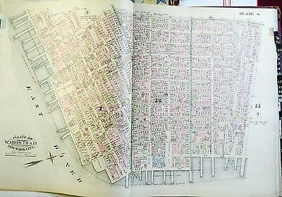 1885 ATLAS MAP GREENWICH VILLAGE MEAT PACKING DISTRICT MANHATTAN NEW YORK CITY