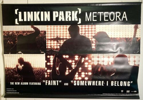"RARE 2003 Linkin Park - METEORA 2-Sided 24X36"" promo vinyl banner/poster VG COND"