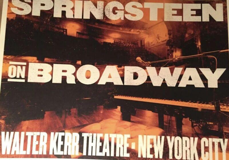 SPRINGSTEEN ON BROADWAY POSTER Print WALTER KERR NYC LTD RARE OOP Springsteen cd