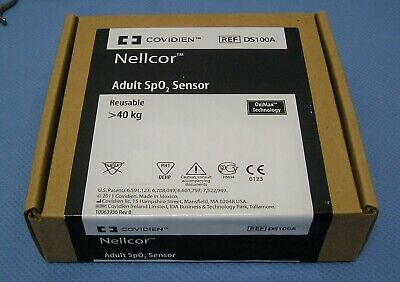 Covidien Nellcor Ds100a Adult Spo2 Finger Sensor Oximax New