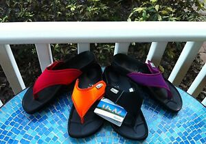 BETULA-BIRKENSTOCK-Flip-Flops-Thong-Sandals-38-7-7-5-Red-Purple-Black-Orange