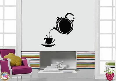 Wall Stickers Vinyl Decal Teapot And Cup Of Tea Decor For Ki