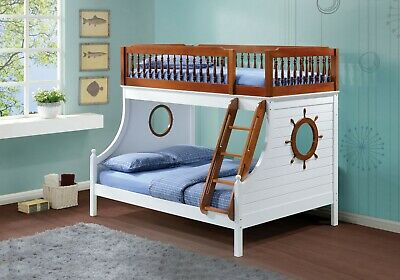 Acme Furniture Farah Bunk Bed Loft Twin and Full Bed Set Acme Furniture Full Bed
