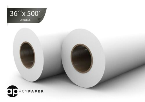ACYPAPER Bond Engineering Rolls, 36 x 500, 20lb. 3 Inch Core, 2 Rolls/Ctn
