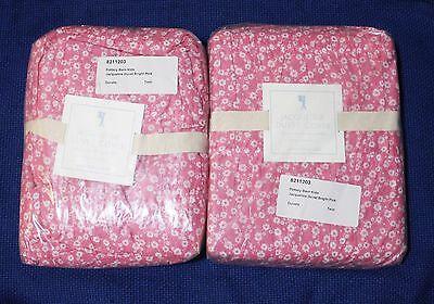 New  Pottery Barn Kids  Pink Jacqueline Twin Sz Duvet Cover Room Decor