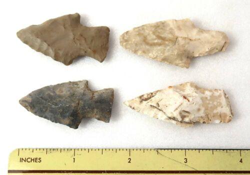 Arrowhead Lot of 4 (Four) Pieces Southern Illinois Illiniwek Kaskaskias Nice