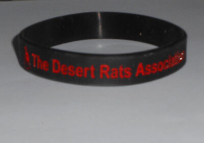 Desert Rats Association Red Jerboa Wrist Band - 7th Armoured Division/Brigade