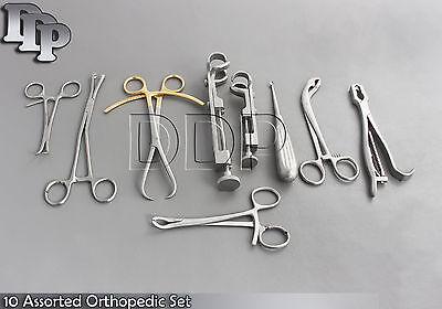 10 Assorted Orthopedic Surgical Instruments Custom Made Setsr-532