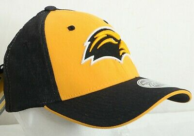 NEW Southern Miss Golden Eagles Zephyr Gray Stretch Fit Baseball Hat Cap M/L ()