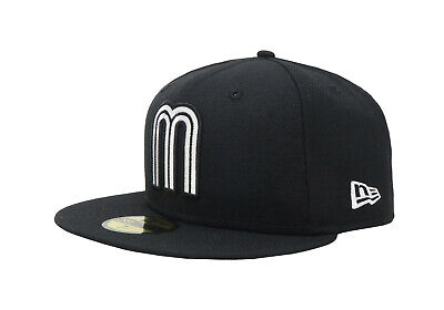 New Era 59Fifty Mens Cap Mexico World Baseball Classic Black/White Fitted Hat