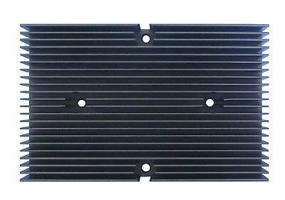 New Heat Sink Aluminum Material And The Surface - Black Anodized With 4 Holes