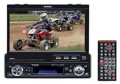 SSL SD990TS Single DIN In Dash 7\ Car Monitor DVD/CD Player Receiver USB/SD/Aux