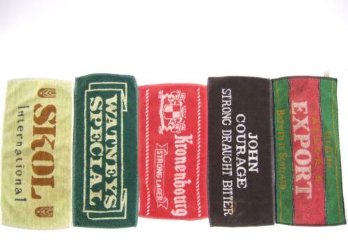 Lot 5 Vintage UK Beer Bar Towels Alloa
