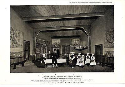 """Strindberg Erstaufführung """"Gustav Wasa"""" Großherzogl.Hoftheater in Schwerin 1902"""