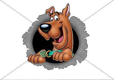 Scooby Doo HOLE 3D Funny Car/Van/Bumper/Window Decal Sticker Tool Box