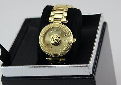 NEW AUTHENTIC VERSUS BY VERSACE BRICK LANE GOLD WOMEN'S VSP640818 WATCH
