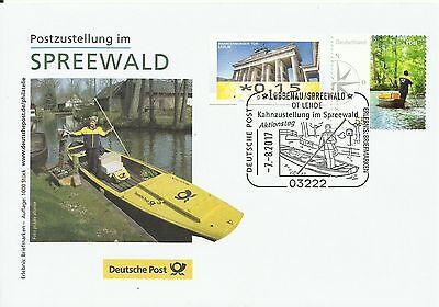Sonderbeleg Deutsche Post AG - Postzustellung im Spreewald - Auflage 1000 Stück