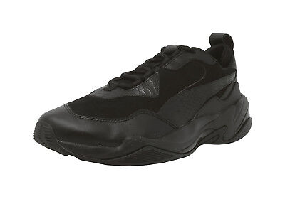 Puma Thunder Desert Mens Black Leather Low Top Lace Up Sneakers Shoes