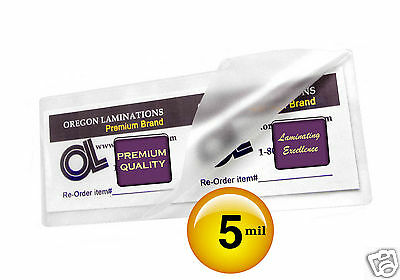Hot Laminating Pouches 2-38 X 8-12-inch Large Bookmark Pk Of 500 Clear 5 Mil