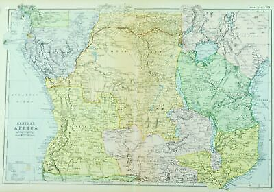 1891 Central Africa Antique Map