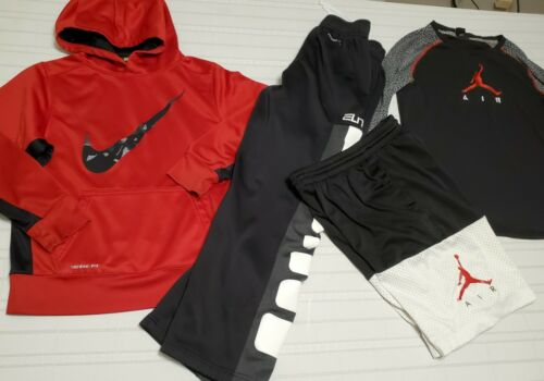 NIKE hoodie, Elite sweat pants, shorts, shirt 4 pc SET Boys size large 12-14