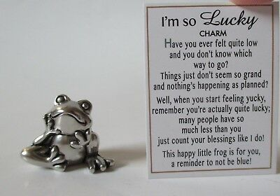 A Im So Lucky Frog Mini Pocket Figurine Charm Count Your Blessings Ganz Happy