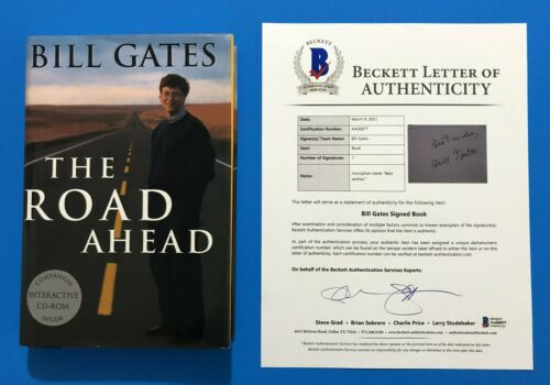 Bill Gates Signed The Road Ahead First Edition Book BAS BECKETT LOA