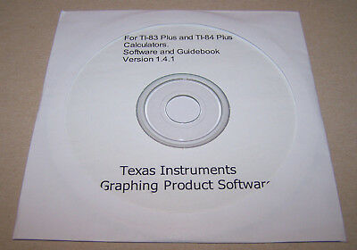 Texas Instruments TI-83 plus TI-84 plus calculator Graphing Software CD & eBook