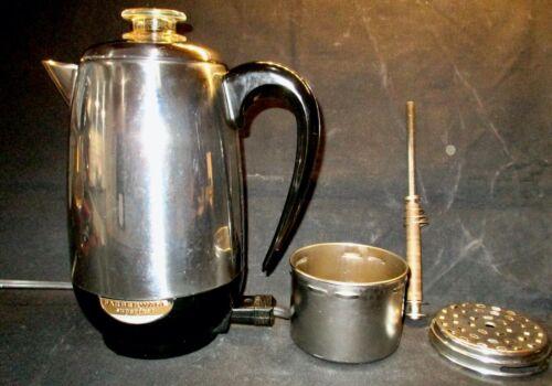Vintage FARBERWARE SUPERFAST #138 Electric Coffee Maker Percolator 8 Cup~Clean:)