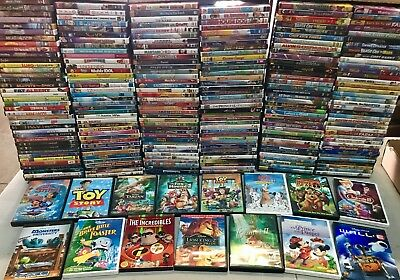 75 Kids DVD LOT WHOLESALE ASSORTED Children's Movies & Tv Shows Disney Included