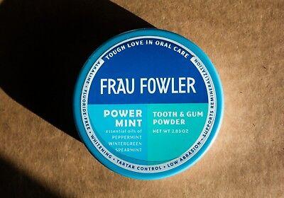 Frau Fowler - Power Mint - Tooth Powder - 2.03 oz Tin - 4 Types of Mint