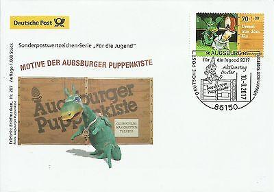Sonderbeleg Deutsche Post AG - Für die Jugend 2017 - Urmel - Auflage 1000 Stück