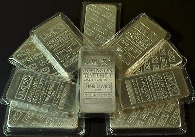 1  10Oz Johnson Mathey Sealed Silver Bar  Jm10x