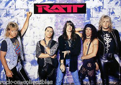 Ratt 1990 Japan Promo Poster Stephen Pearcy DeMartini Blotzer Rare Original