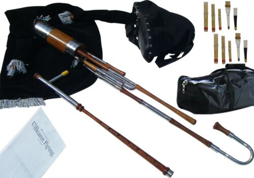 Irish Uilleann Pipes Half Set Bagpipes with C Nat 1 Key Chanter | Student Model