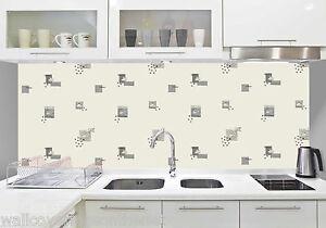 White silver cushioned vinyl washable kitchen wallpaper for Silver kitchen wallpaper