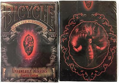 Unnameable Horrors Bicycle Playing Cards Poker Size Deck USPCC Limited Custom