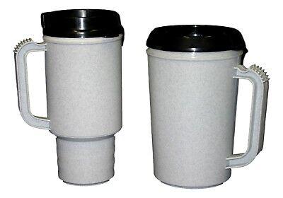1 each Coffee Cup Mug & 1 Insulated Cool Cup Mug- Color Granite Made in America (Coffee Mugs In Bulk)