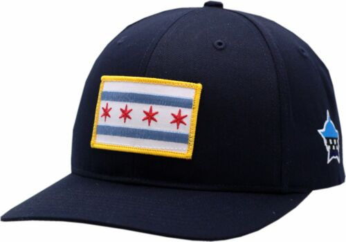 Chicago Flag Navy Adjustable Hat