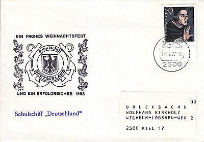 Schiffspost Schulschiff Deutschland Weihnachten 1982