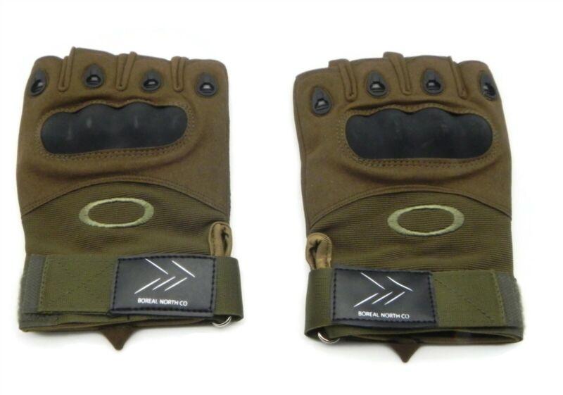 Oakley Pilot Warehouse Tactical Gloves Olive Brown Half-Finger Size Large