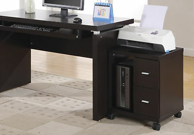 Monarch Specialties 2-drawer Computer Stand On Castors - Cappuccino