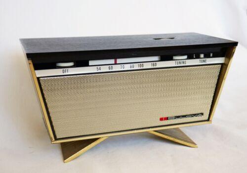 Vintage Bulova Embassy 1110 Transistor Clock Radio 1960s Mid-Century Modern MCM