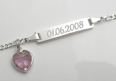 Mit Gravur Damen Armkette Schild Armband Echt Silber Damenschmuck Name Datum neu