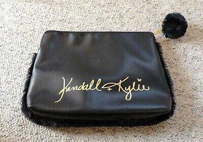 Kendall & Kylie Black Lana Clutch Bag Make-up Toilet Wash Christmas Xmas Secret