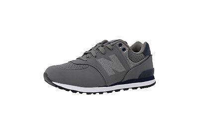 New Balance 574 Shoes Kids Preschool Sneakers KL574A6P - Gray/Navy Blue