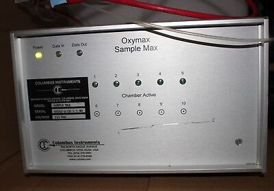 Columbus Instruments Oxymax Sample Max 5-channel For Animal Testing Unit